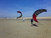 Kite flying on the beach at Camber sands