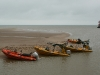 Temporary harbour at Camber Sands for kite and boat day out