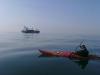 flat calm kayak crossing
