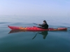 paddling across the channel by kayak