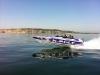X-pole Flying off Rye Coast during rides