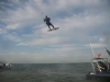 Kitesurf jump over Goodwin Sands