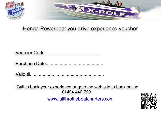 powerboat experience voucher christmas