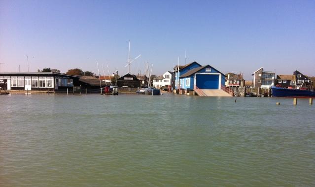 Spring High tide at Rye Harbour