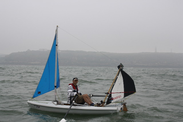 rower arrives in france
