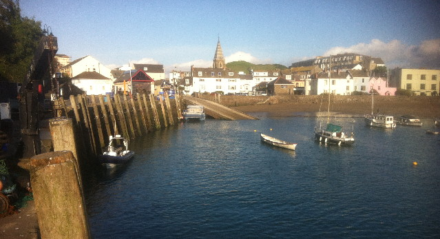 Illfracombe harbour with rib