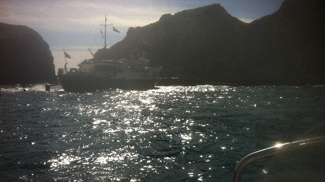 lundy ferry arrives