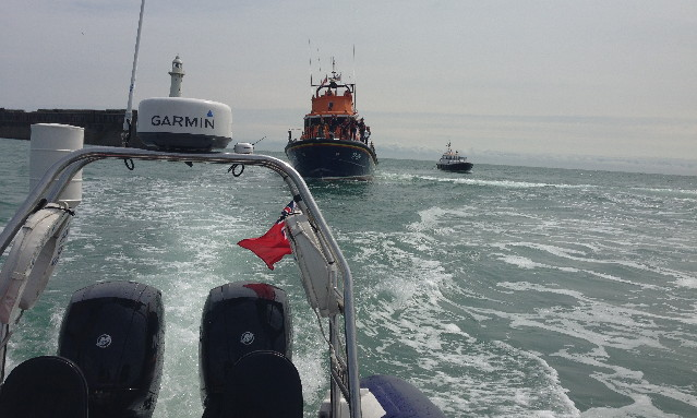 dover RNLI lifeboat welcome