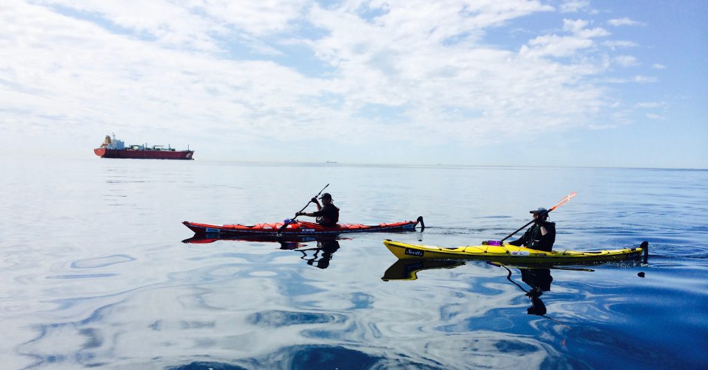 Kayak the english Channel